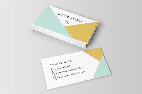 Geometric Angles Business Card Template