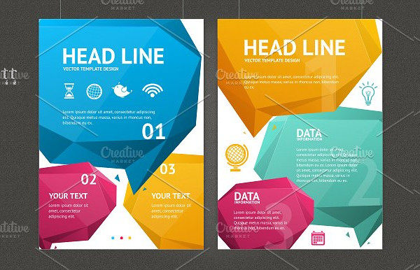 Geometric Bubble Speech Brochure Template
