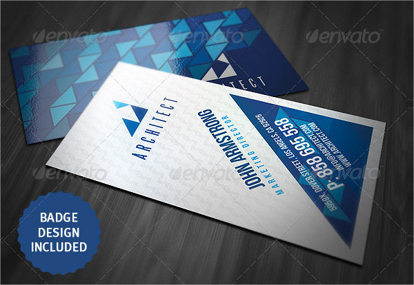 Creative Business Card Template with Geometric Style