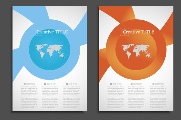 Creative Geometric Brochure Design