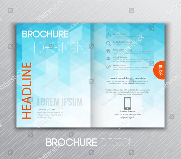 Blue Design Brochure Template