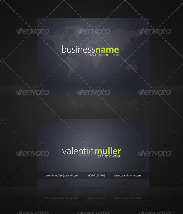 Global Company Business Card Template