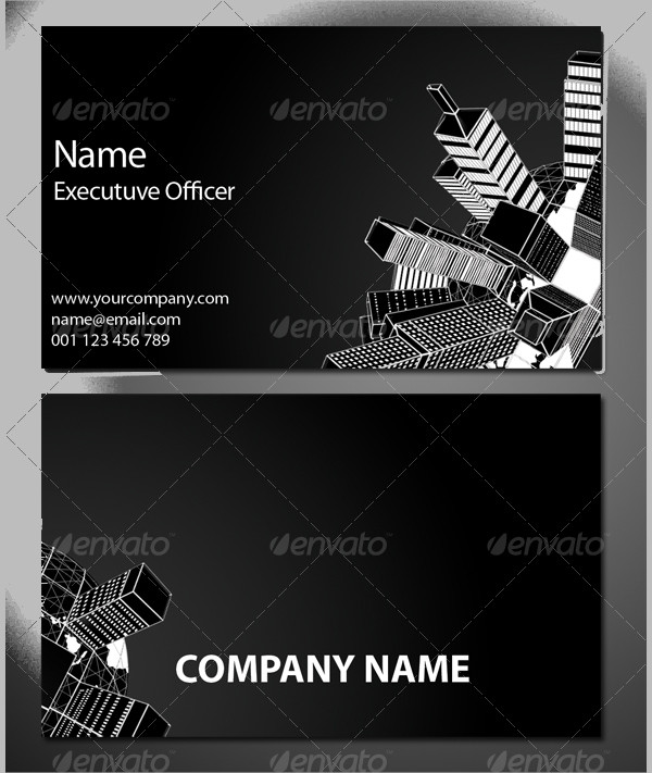 Black & White Global Business Card Template