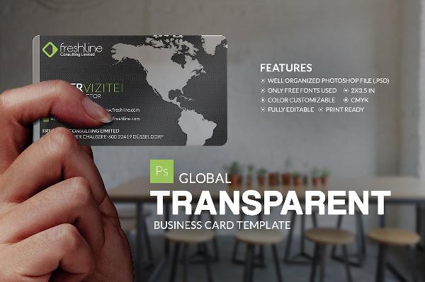 Global Transparent Business Card Template