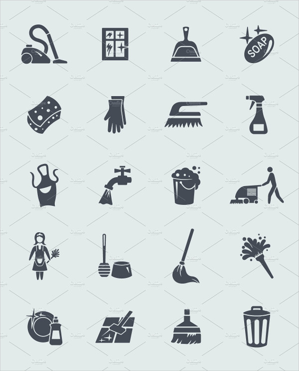 Fully Editable Cleaning Vector Icons