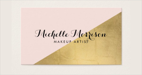 Geometric Gold Foil Business Card Template