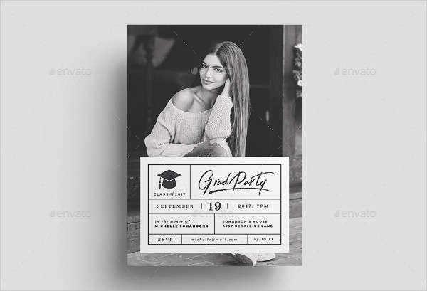 Latest Design Graduation Invitation Template