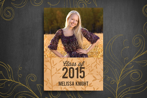 Ready to Print Graduation Invitation Template