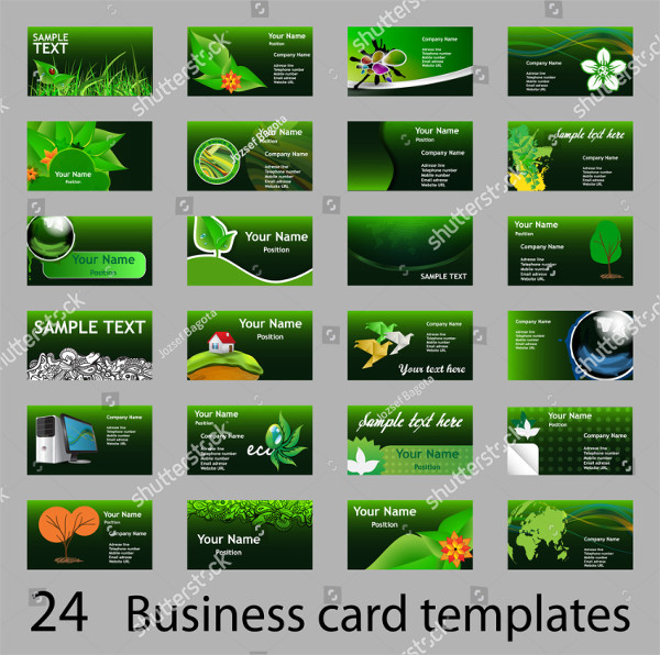 24 Green Nature Business Cards