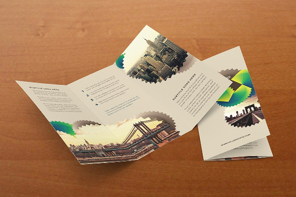 Green Geometric Pattern Trifold Brochure