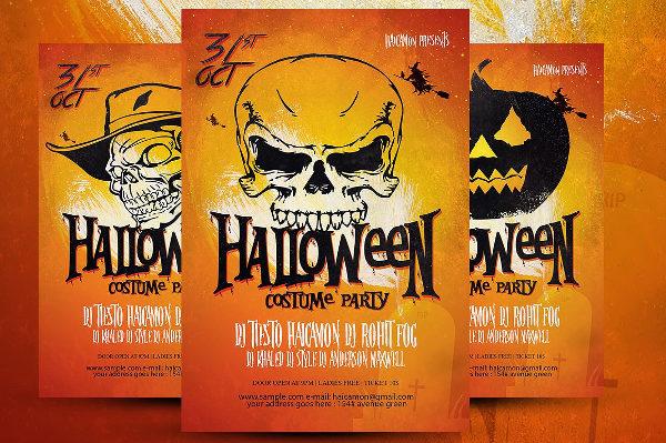 23 halloween party flyer templates free premium download