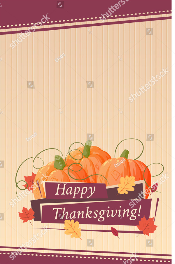 Happy Thanksgiving Cards with Pumpkin