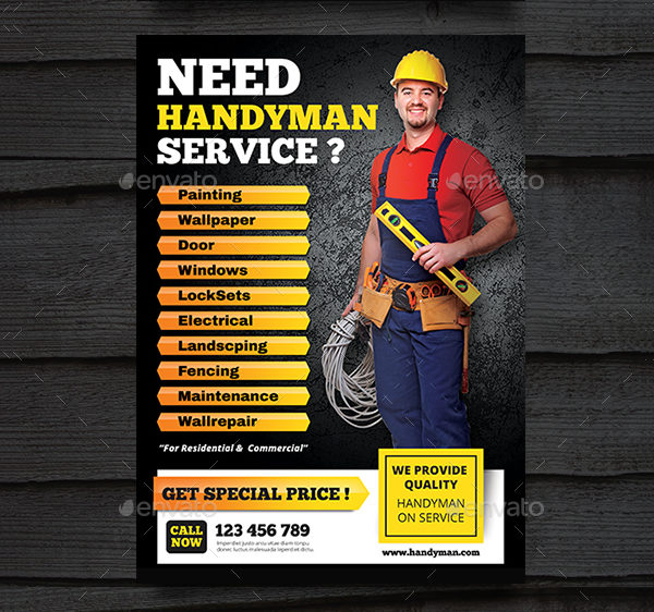 House Repair Business Advertising Flyer