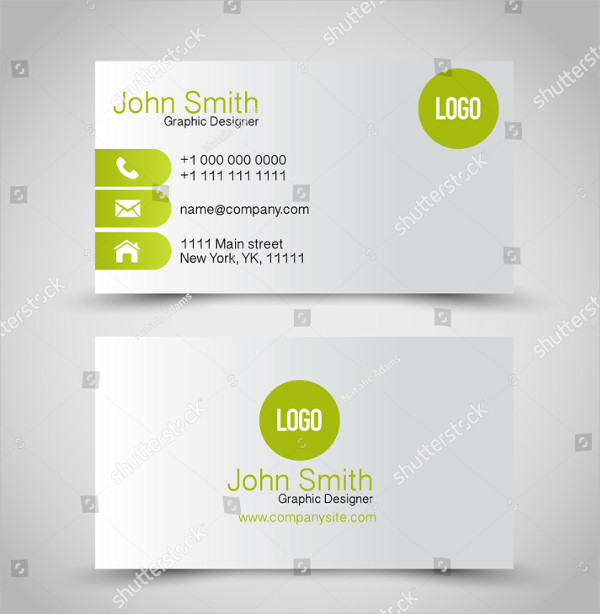 Illustration Global Business Card