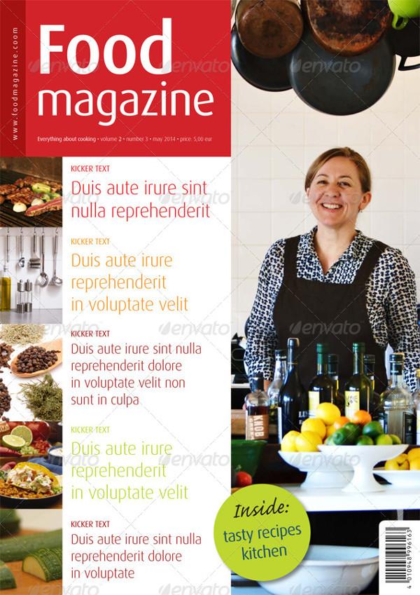 Popular InDesign Food Magazine Template