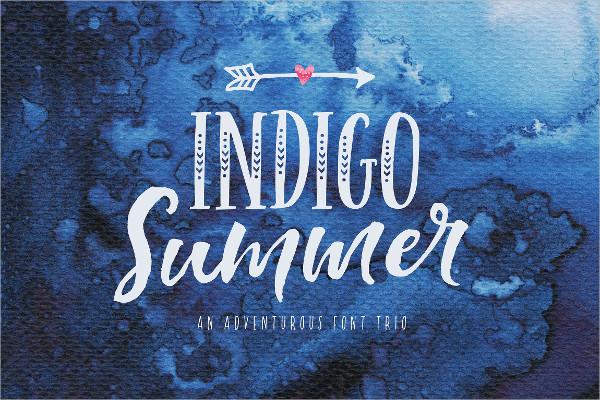 Indigo Summer Font