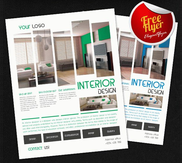 Interior Design Free PSD Flyer Template