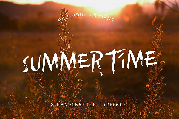 Summertime Handcrafted Font