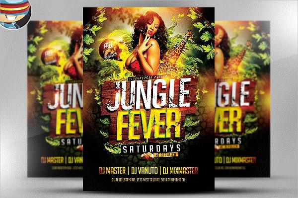 Unique Jungle Fever Party Flyer Template
