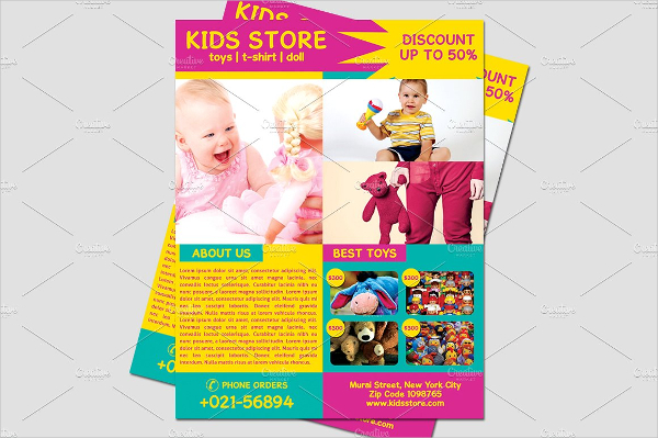 Kids Clothing Store Flyer Template