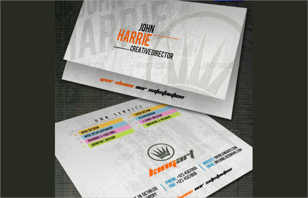 Kingart Folded Business Card Template