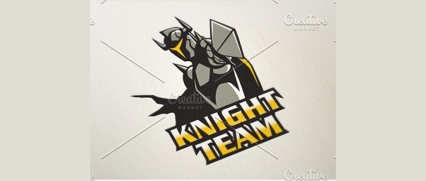 Professional Knight Team Logo