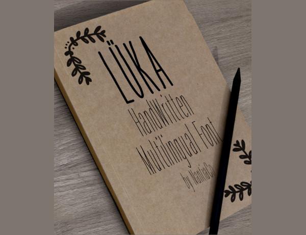 Luka Handwritten Multilingual Font