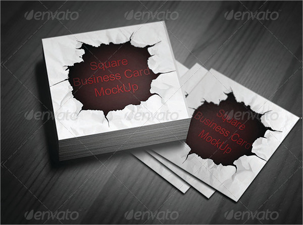 Easy to Edit Square Business Card Template
