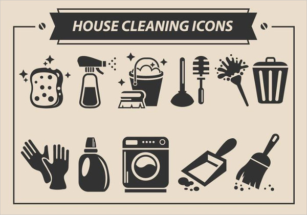 Free House Cleaning Vector Icons