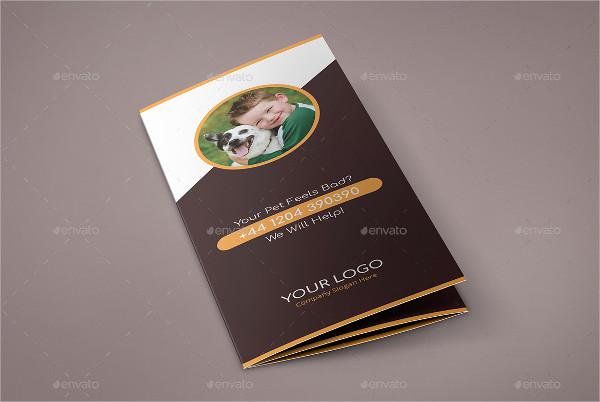 Best Pets Care Tri-Fold Brochure Template