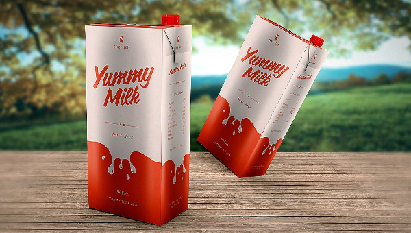 Milk Packaging Mockup Templates