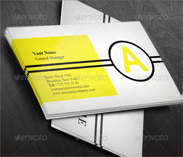 Minimal Geometric Business Card Templates