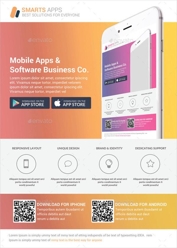 Mobile Apps Promotion Flyers Bundle