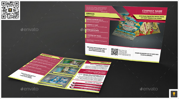Modern Business Trifold Geometric Template