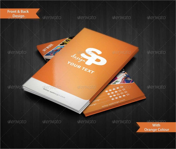 Modern Folding Graphic Designer Business Card