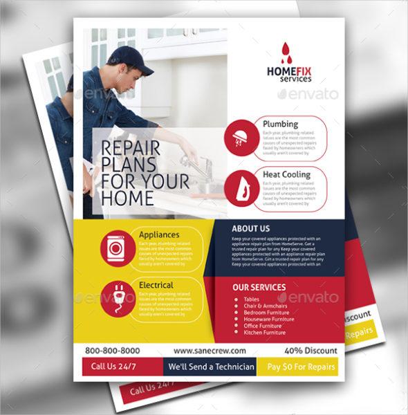Modern Home Repair Flyer Template