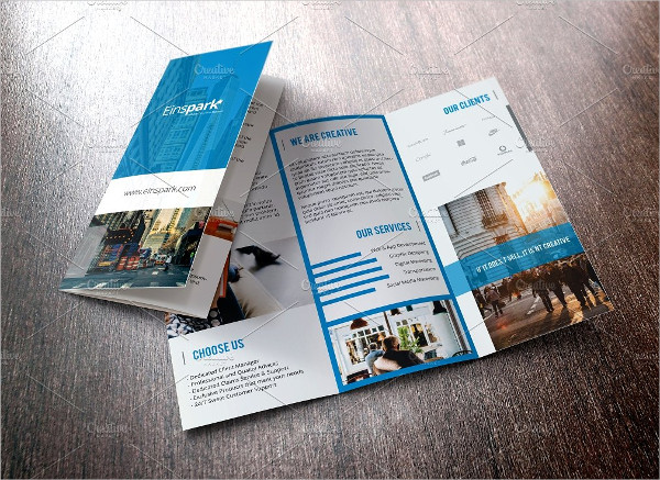 Multipurpose Geometric Trifold Brochure
