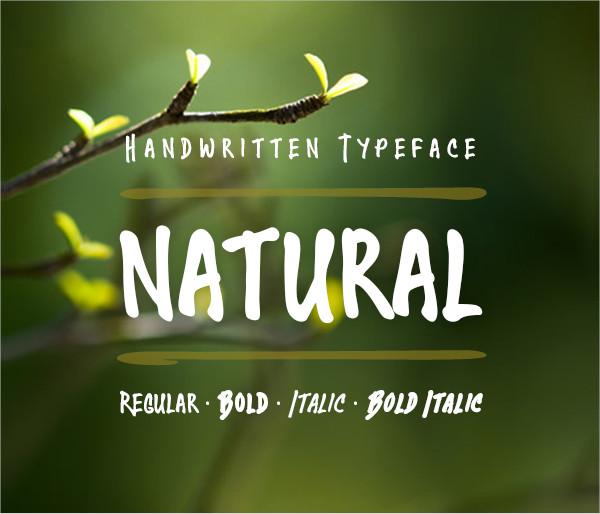 Natural Handwritten Fonts