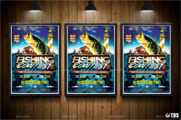 Best Fishing Contest Flyer Template