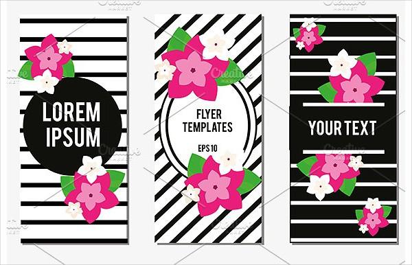 Designed Flowers Flyer Design Templates