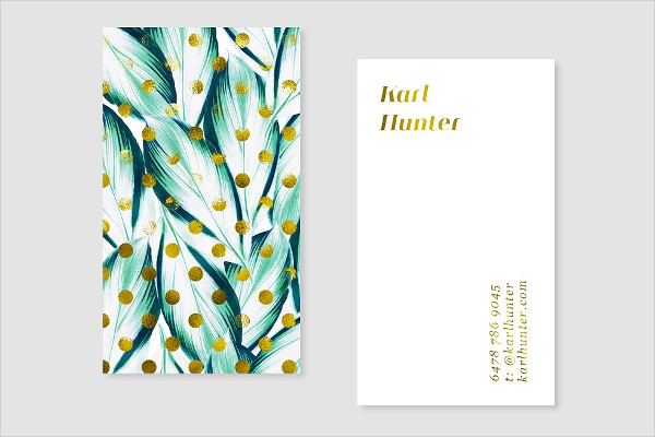 Nature & Gold Business Card Template