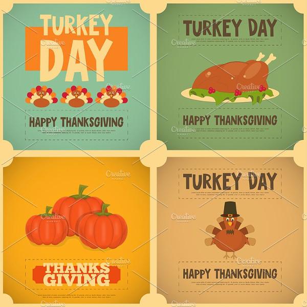 Turkey Thanksgiving Cards