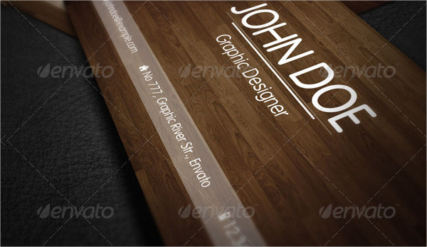 Nature Wood Business Card Template