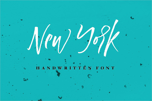 New York Handwritten Font