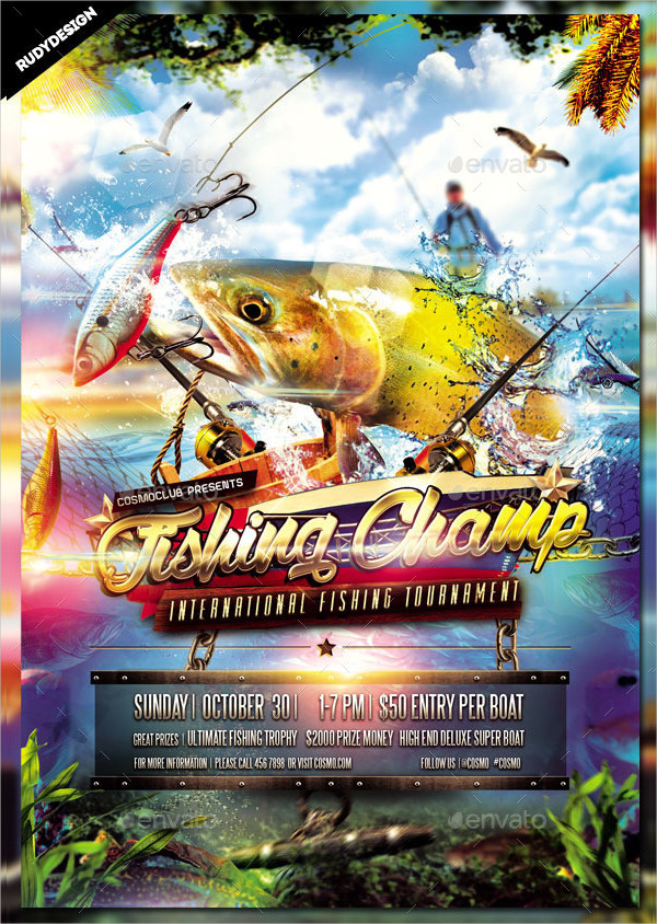 Attractive Fishing Championship Event Flyer Design
