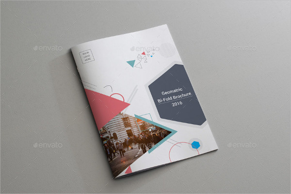 Best Geometric Bi-Fold Brochure Template