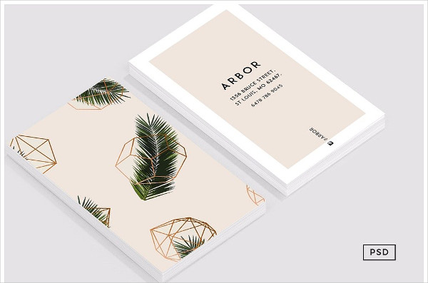 Palm Geometry Business Card