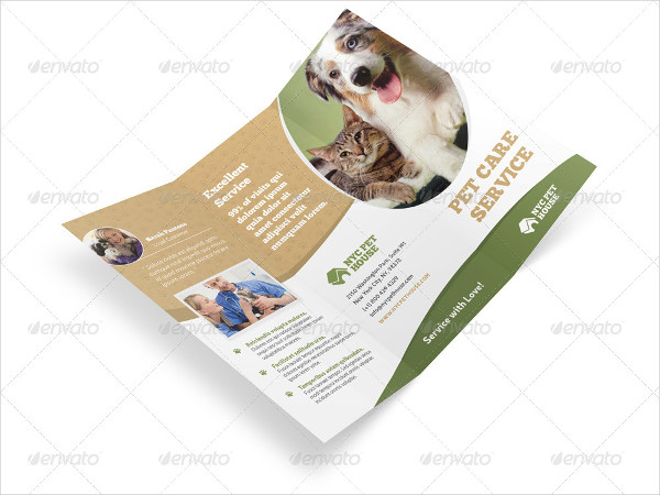Pet & Animal Care Trifold Brochure Template