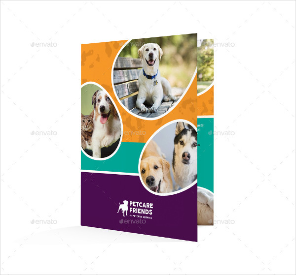 Perfect Pet Care Bifold Brochure Template