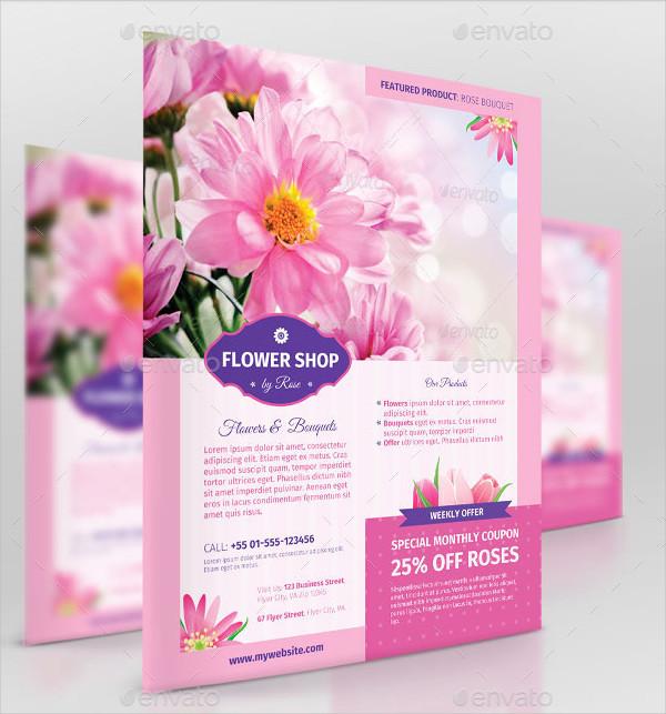 Flower Shop Business Promotion Flyer